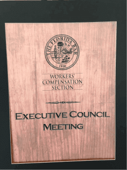 Executive Council Meeting Plaque